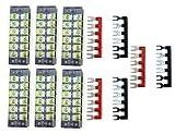 6 position terminal barrier strip - XLX 12pcs ( 6 Set ) 600V 25A 6 Positions Double Row Screw Terminal Strip and 400V 25A 6 Positions Red / Black Pre-Insulated Terminal Barrier Strip