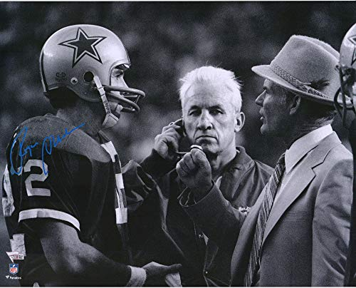 Roger Staubach Dallas Cowboys Autographed 16'' x 20'' Talking with Tom Landry Photograph - Fanatics Authentic Certified