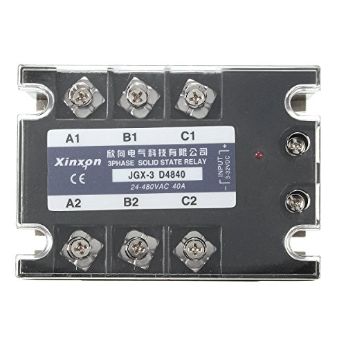 JGX-3 D4840 Three Phase Solid State Relay SSR DC-AC 40A Input 3-32VDC 24-480VAC (Audio Ballast Car)
