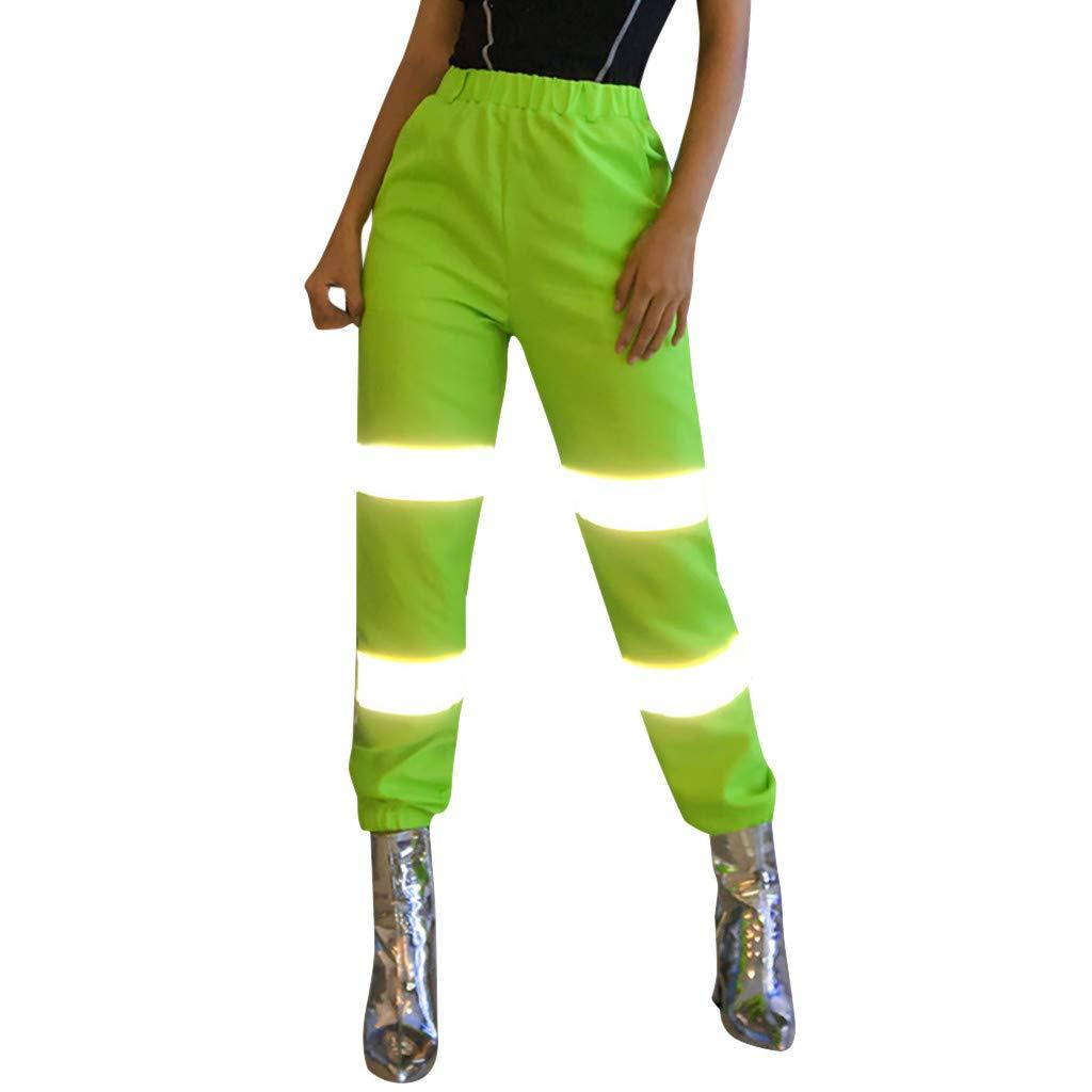 LISTHA Reflective Cargo Pants Women Overalls Street Shot High Waist Trousers