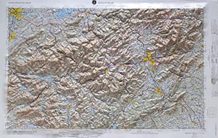 Amazon.com : KNOXVILLE REGIONAL Raised Relief Map in the ... on rome airport map, hills of rome map, rome city map, italy's map, early roman city map, sparta map,