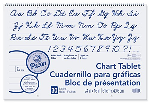 Pacon  Chart Tablet, Cursive Cover, 1