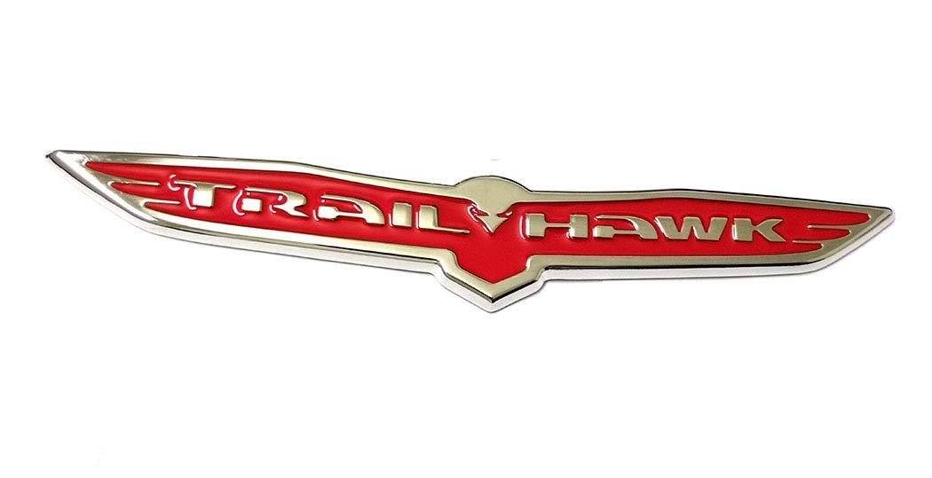 1x Metal Trailhawk Emblem 3D Trail Hawk Wing Badge Replacement for Jeep SRT Grand Cherokee Chrome Black