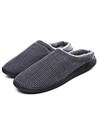 Lauwodun Women Men Slippers Memory Foam Clogs Shoes House Slippers Indoor Hotel Traveling