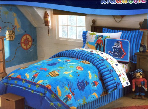 4-piece Saba Pirate Treasure Comforter Set Full Size