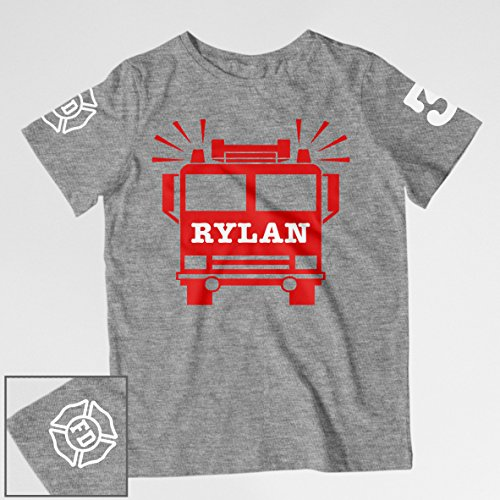 Firetruck Birthday Shirt by Conch District