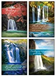 12 Boxed Thinking of You Greeting Cards - Living Waters - KJV Scripture Included in Each Card! Bulk Thinking of You Cards & 12 Envelopes Boxed Cards