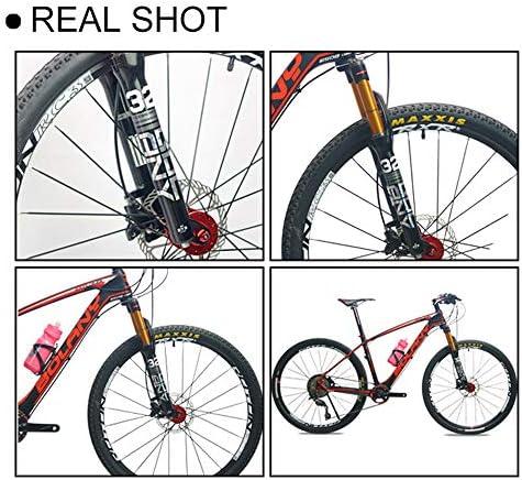 QQKJ Toda la aleación de Aluminio MTB Bicicleta Horquilla mecánica 26/27.5/9 Pulgadas, Horquilla de Bicicleta de montaña para Accesorios de Bicicleta,White27.5: Amazon.es: Deportes y aire libre