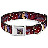 Buckle Down DC-WCW008-S CWH CATWOMAN Bombshell Face C U Full Color Red Dog Collar - Small 9-15