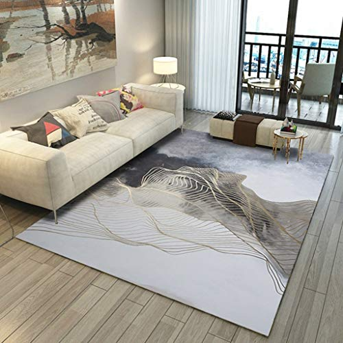 SMJZCGY Ins Simple Modern Carpet Living Room Sofa Coffee Table Mat Home Nordic Abstract Bedroom Carpet Bedside T Blanket (Color : CX-05, Size : 140×200cm)