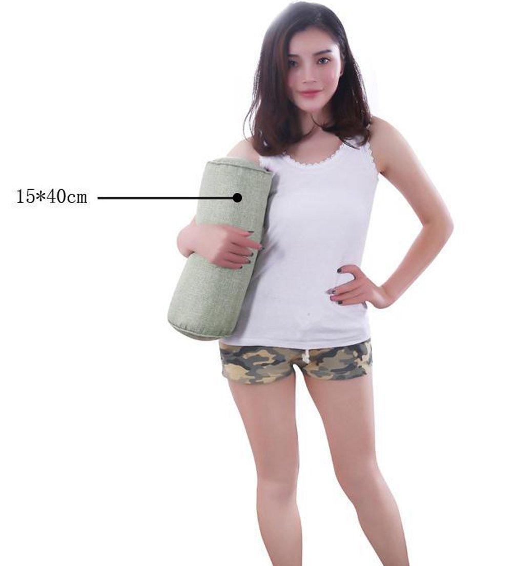 TRENDY XU Cotton Long Pillow Large Cylindrical Bed Bolster Pillows Linen, 40 * 15cm//15.7*5.9