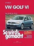 VW Golf VI von 10/08 bis 10/12: Benziner 1,2l/ 63kW (85 PS) 6/10-10/12 bis 2,0l/199kW (270 PS) 12/09-10/12. Diesel 1,6l/ 66kW (90 PS) 5/09-10/12 bis 2,0l/ 125kW (170 PS) 5/09-10/12