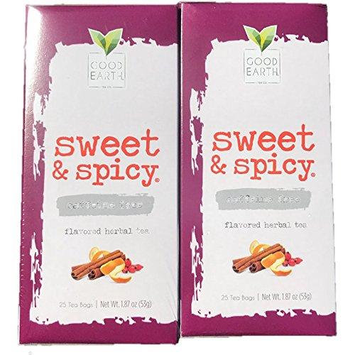 Earth Tea Tea Black Good - Good Earth Sweet & Spicy Flavored 25 Tea Bags 4 Pack Herbal Teas
