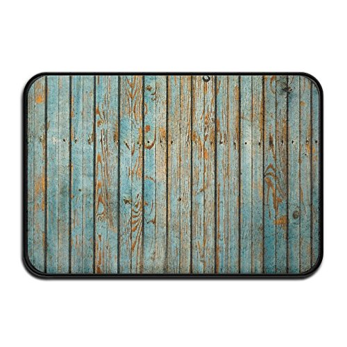 (HOMESTORES Washed Timber Set Pattern Bath Mat Shower Spa Rug For Bathroom Tub Indoor Outdoor Entrance Door Mats - Quick Dry Absorbent Non Slip Backing 17x24 Inch )