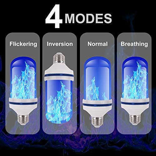 Amazon.com: Luces LED de llama, luz de la llama, 4 modos ...