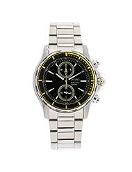 Seiko Men's SNN245 Stainless Steel Chronograph Black Dial Watch