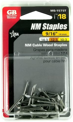 9//16-In Metal Cable Staples Gardner Bender MS-1575T 18-Pk Quantity 8