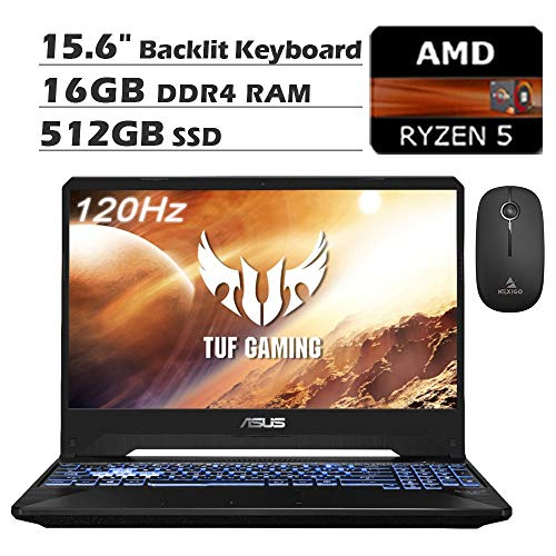 2020 ASUS TUF 15.6 Inch 120Hz FHD 1080P Gaming Laptop, AMD Ryzen 5 3550H up to 3.7GHz, GeForce RTX 2060 6GB, 16GB DDR4…