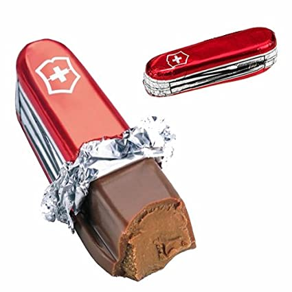 Cuchillo de chocolate de leche Praline Swiss Army – ideal ...