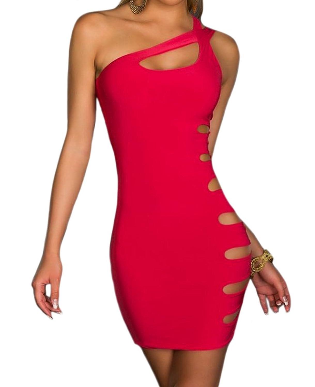 Memorose Women Sexy lingerie Cut Out Sleeveless Clubwear Bandage Mini Dress