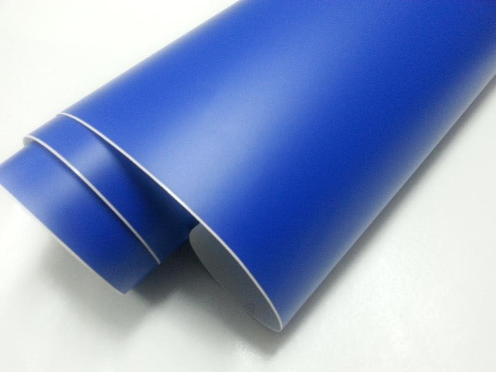 Vinilo azul oscuro mate, alta calidad, para interior y exterior. Medida a elegir: 60x100cm, 60x150cm, 60x200cm, 60x300cm: Amazon.es: Hogar