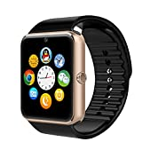 Bluetooth Smart Watch with Curved Shape Support SIM Card Slot for IOS iPhone, Android Samsung HTC Sony LG Smartphones