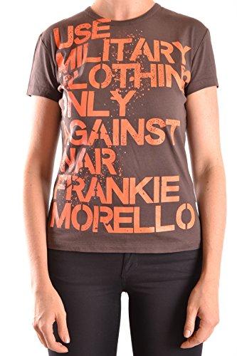 Frankie Morello Mujer MCBI125066O Marrón Algodon T-Shirt