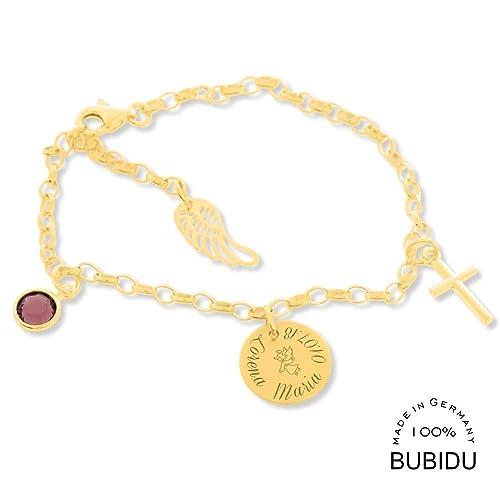 Taufarmband Gold Echtschmuck Mädchen Armband Mit Engel