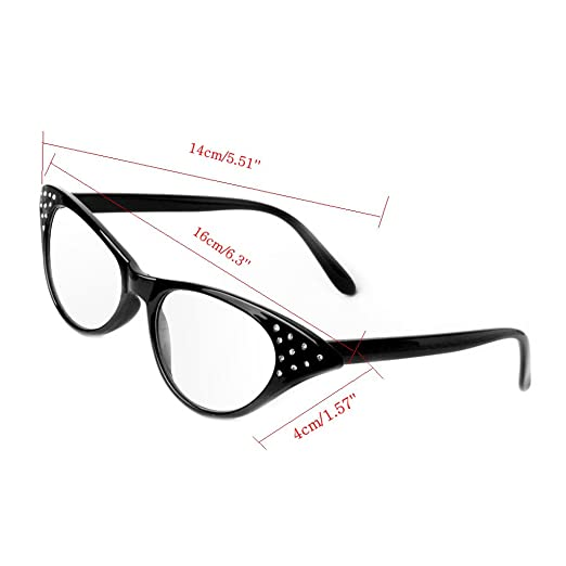 0ee5c8ee826b Amazon.com  Wivily Women Rhinestone Cat Eye Sexy Vintage Style Clear Lens  Reading Glasses - Leopard (+1.5)  Health   Personal Care