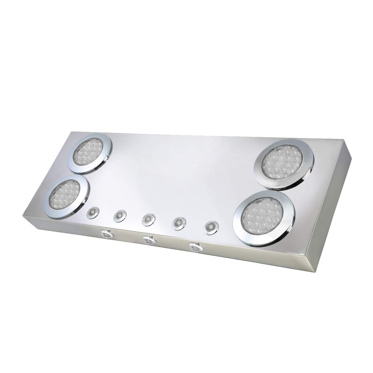 GG Grand General 91310 Stainless Steel Rear Panel with 4 and 1 inches Red LED Lights