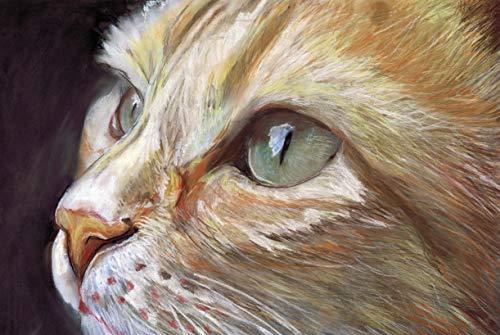 Ginger Cat Art Print, Cat Pastel Painting Cat Decor, Cat Mom, Feline Lover Gift, Kitten Wall Art Print, Orange Tabby Cat Decor hand signed ()