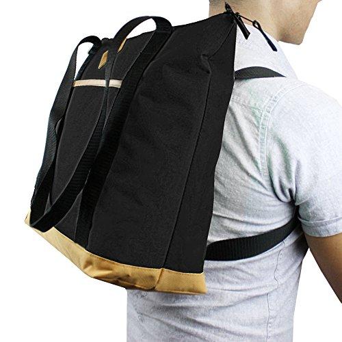 GOODHOPE Unisex Adult Epic Backpack Cooler Tote, Black, Large