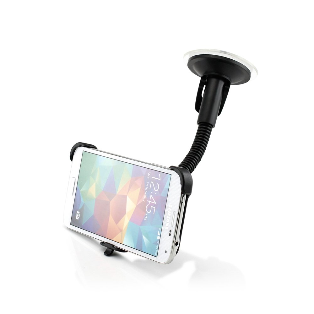 Black AV5852-Black-S5 Gearonic 360 Rotating Suction Cup Car Stand Mount Windshield holder for Samsung Galaxy S5 SV i9600 Non-Retail Packaging