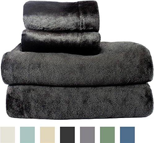 Cozy Fleece Microplush Sheet Black