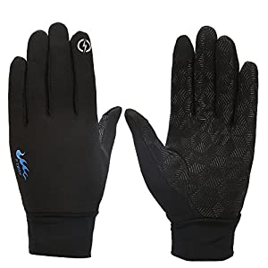 Touch Gloves Touch Screen Gloves Rock Climbing Winter Gloves ,Suitable For Men And Women Outdoors Sport running Gloves (Black, M)
