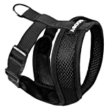 Gooby - Comfort X Head-in Harness, Choke Free Small Dog Harness with Micro Suede Trimming and Patented X Frame, Black, Small