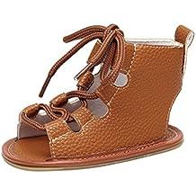 Infant Prewalker Sandals, Iuhan Baby Sandal Bandage Cross-tied Sole Crib Hollow Shoes