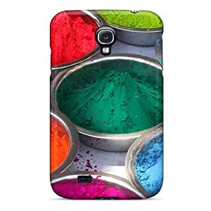Zheng caseHot Tpu Cover Case For Galaxy/ S4 Case Cover Skin - Happy Holi