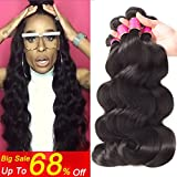 Peruvian Virgin Hair Body Wave 4 Bundles 8A Peruvian Hair Natural Wave Curls Weave 100% Human Hair Extensions Loose Deep Curly Natural Color (16 18 20 22) Review
