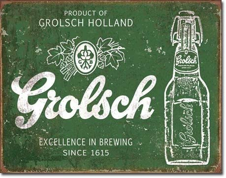 Grolsch Beer Excellence Tin Sign