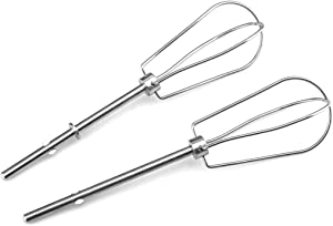 W10490648 Hand Mixer Attachment Beaters for KitchenAid KHM2B, AP5644233, PS4082859 Replacements.