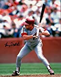 Lenny Dykstra Autographed Picture - 8X10 Road at Bat - Autographed MLB Photos