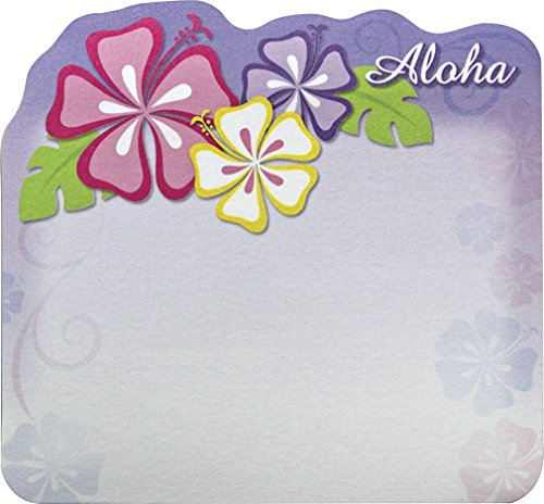 Die Cut Sticky Notes - 6 Pack Hawaiian Style Stick 'n Notes Posteez Die Cut Aloha Floral