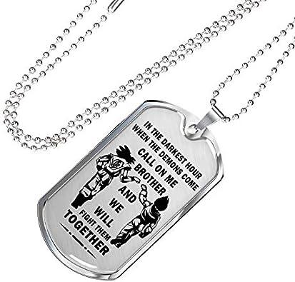 Luxury Dog Tag Necklace Personalized Name Gifts Damon v3