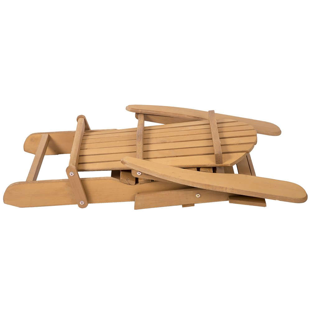 FDW Outdoor Wood Adirondack Chair Foldable w/Pull Out Ottoman Patio Furniture by FDW (Image #7)