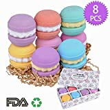 Bath Bombs - Meland 8 Pieces 3 OZ FDA Approved Macaroons Bath Fizzies for Bubble and Spa Bath, Bath Bomb Gift Set for Kids Girls Women Adults