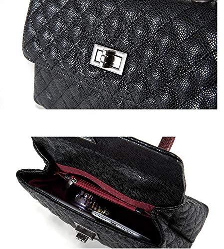 Shoulder Layer Cowhide Cross Oblique Hongge Caviar Bag Tattoo Head Female Handbag B Girl Single Fashion zBEwxw0q5