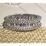Mini World Silver Engagement Wedding Ring