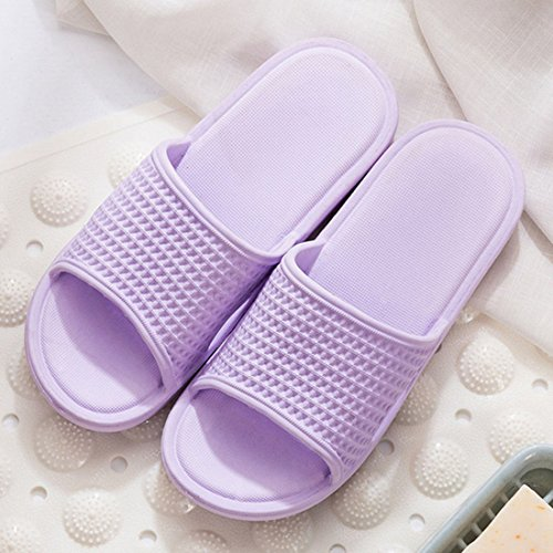Casual Purple Slippers Bathroom Indoor Household FREAHAP Sandals Slip Anti R UxEqE1wzt