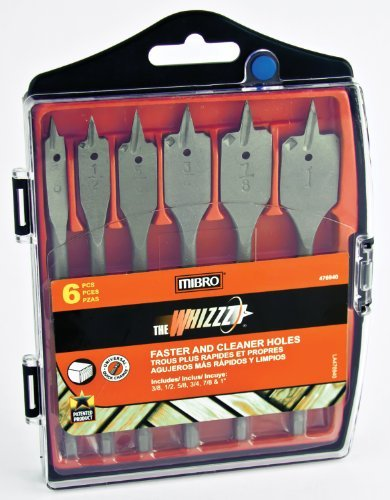 (Mibro 476940 6-Piece Whizzz Bit Spade Bit Set, 3/8-Inch to 1-Inch. by Mibro)